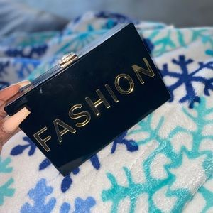 Small Black Fashion Clutch